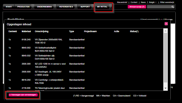 Rittal-webshop-bestellijsten-detail