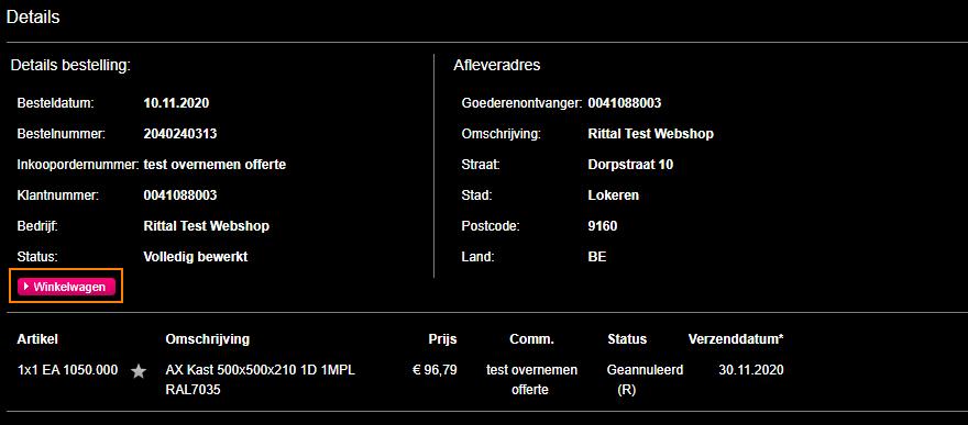 Rittal-webshop-gedane-bestelling
