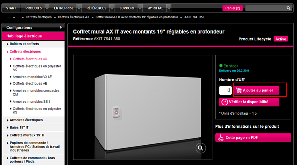 Rittal-webshop-producten-winkelmand-fr